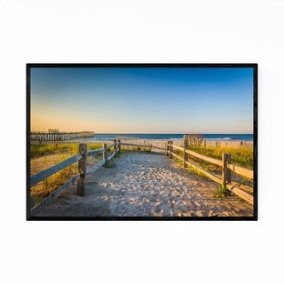 Noir Gallery Ventnor City, New Jersey Beach Framed Art Print