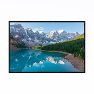 Noir Gallery Moraine Lake Banff Alberta Canoe Framed Art Print