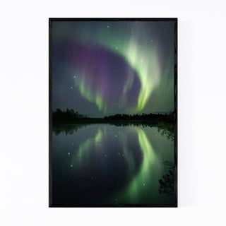 Noir Gallery Northern Lights Lapland Finland Framed Art Print