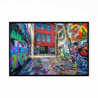 Noir Gallery Toronto Street Art Graffiti Framed Art Print