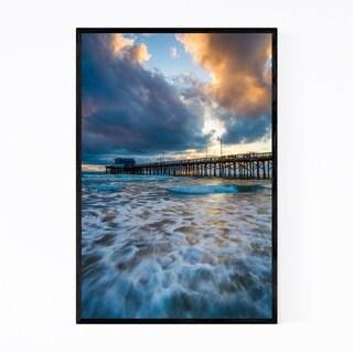 Noir Gallery Newport Beach California Pier Framed Art Print