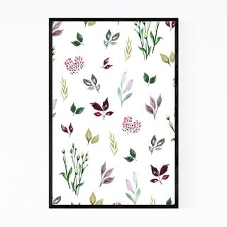 Noir Gallery Watercolor Botanical Pattern Framed Art Print