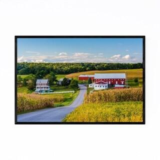 Noir Gallery Pennsylvania Barn on Farm Rural Framed Art Print