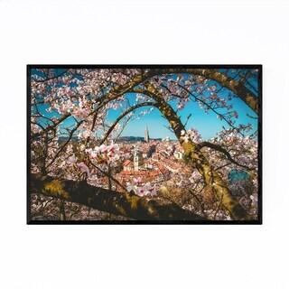 Noir Gallery Cherry Blossoms Bern Switzerland Framed Art Print