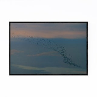 Noir Gallery Birds Flying Sunset Nature Framed Art Print