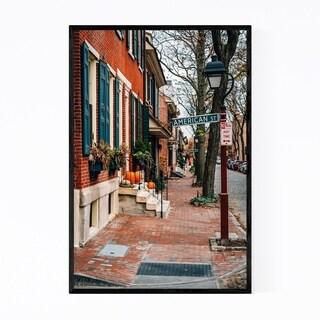 Noir Gallery Philadelphia Society Hill Houses Framed Art Print