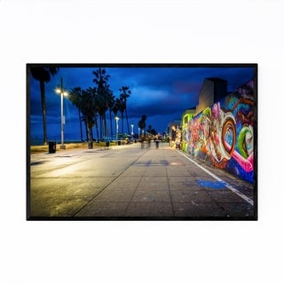 Noir Gallery Graffiti Venice Beach California Framed Art Print