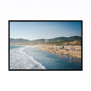 Noir Gallery Santa Monica, California Beach Framed Art Print