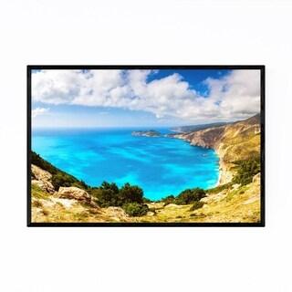 Noir Gallery Kefalonia Greece Coastal Beach Framed Art Print