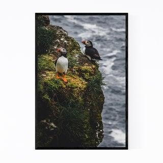 Noir Gallery Faroe Islands Puffins Wildlife Framed Art Print
