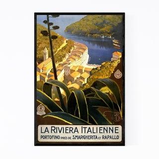 Noir Gallery Italian Riviera Travel Poster Framed Art Print