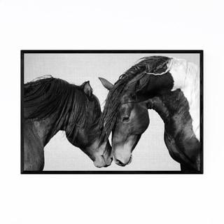 Noir Gallery Horses Nursery Peeking Animal Framed Art Print