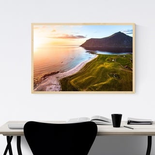 Noir Gallery Lofoten Norway Sunset Beach Framed Art Print
