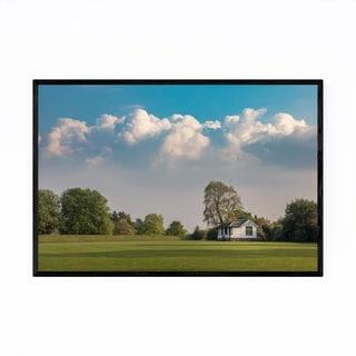 Noir Gallery Crichton Scotland Rural Fields Framed Art Print