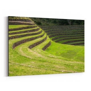 Noir Gallery Inca Terraces Moray Cusco Peru Canvas Wall Art Print