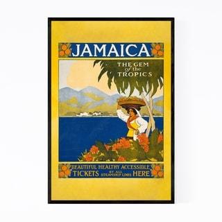 Noir Gallery Jamacia Vintage Travel Poster Framed Art Print