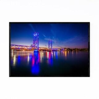 Noir Gallery Portsmouth New Hampshire Bridge Framed Art Print