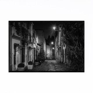 Noir Gallery Black & White Rome Italy Urban Framed Art Print