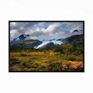 Noir Gallery Worthington Glacier Alaska Framed Art Print