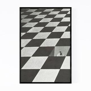 Noir Gallery Abstract Geometric Illusion Framed Art Print