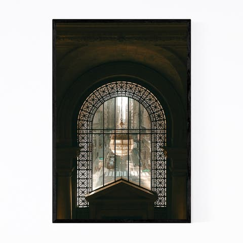 Noir Gallery New York Public Library NYC Framed Art Print