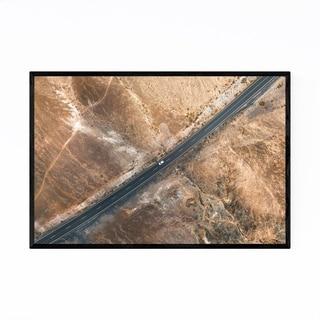 Noir Gallery Canary Islands Spain Desert Road Framed Art Print