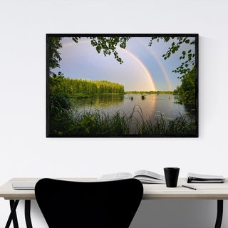 Noir Gallery Rainbow Lake Nature Finland Framed Art Print