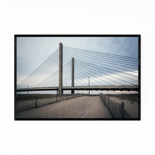Noir Gallery Delaware Indian River Bridge Framed Art Print