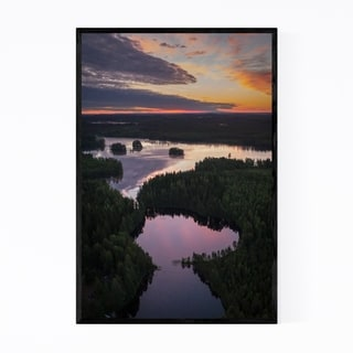Noir Gallery Finland Lake Landscape Nature Framed Art Print