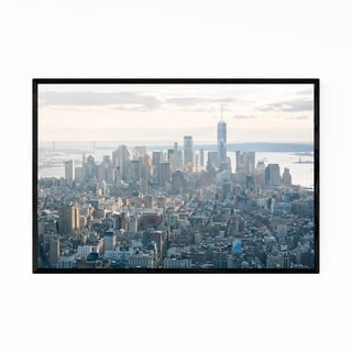 Noir Gallery New York City FiDi Skyline NYC Framed Art Print