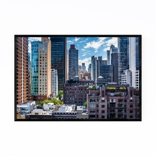 Noir Gallery New York City Midtown Skyline  Framed Art Print