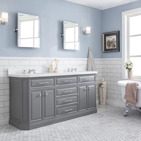 Palace Quartz Carrara Bathroom 72-inch Vanity Set