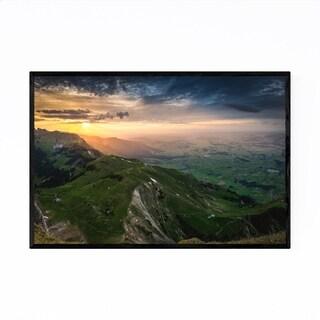 Noir Gallery Thun Switzerland Landscape View Framed Art Print