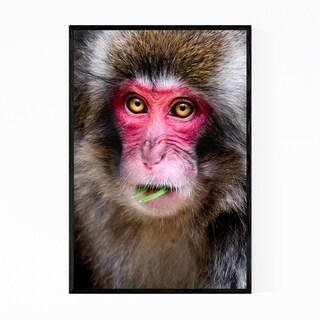 Noir Gallery Japanese Macaque Monkey Wildlife Framed Art Print