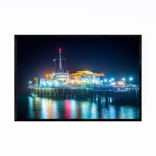 Noir Gallery Santa Monica Pier California Framed Art Print