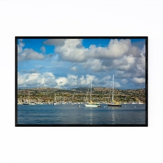 Noir Gallery Newport Beach California Harbor Framed Art Print