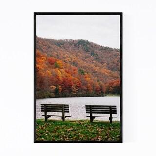 Noir Gallery Virginia Lake Autumn Foliage Framed Art Print