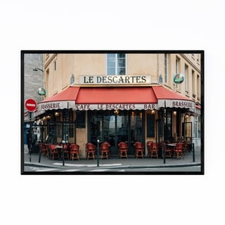 Noir Gallery Paris France Cafe Bar Restaurant Framed Art Print