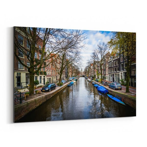 Shop Black Friday Deals On Noir Gallery Amsterdam Netherlands Canals Canvas Wall Art Print Overstock 27453777