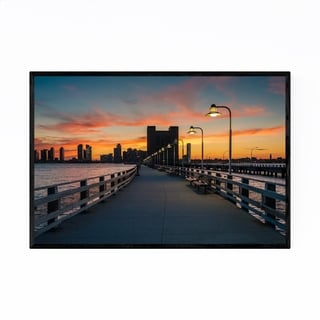 Noir Gallery Hudson River Sunset New York NYC Framed Art Print