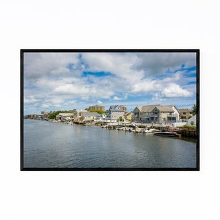 Noir Gallery Ventnor City New Jersey Bay Framed Art Print