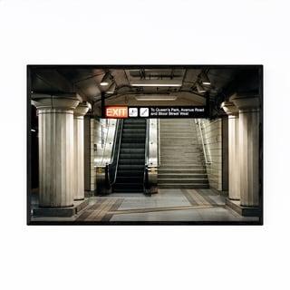 Noir Gallery Toronto TTC Station Architecture Framed Art Print