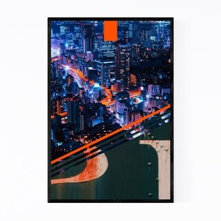 Noir Gallery Pittsburgh Steel Skyline City Framed Art Print