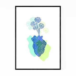 Noir Gallery Flower Floral Heart Illustration Framed Art Print
