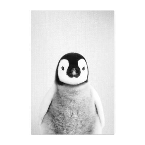 Noir Gallery Baby Penguin Peekaboo Animal Unframed Art Print/Poster