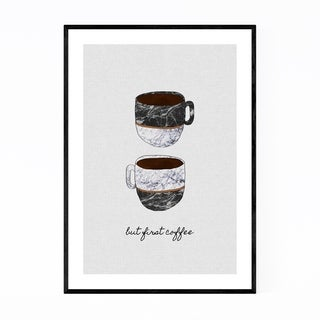 Noir Gallery Cute Coffee Kitchen Typography Framed Art Print