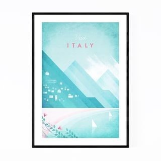 Noir Gallery Minimal Travel Poster Italy Framed Art Print