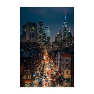 Noir Gallery New York City Skyline Night NYC Unframed Art Print/Poster