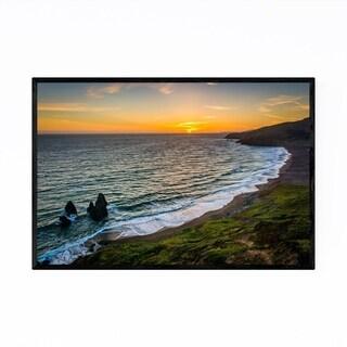 Noir Gallery Beach San Francisco California Framed Art Print