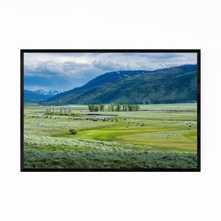 Noir Gallery Yellowstone Lamar Valley Wyoming Framed Art Print